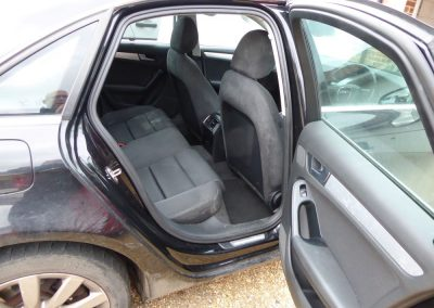 Rear seats before